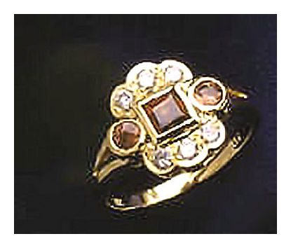 14k Garnet & Diamond Ring (.25ct)