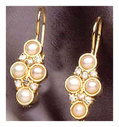 14k Pearl & Diamond Earrings (.40ct)