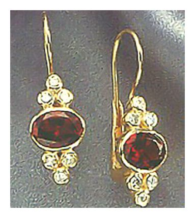 14k Brideshead Garnet and Diamond Earrings (.71ct)