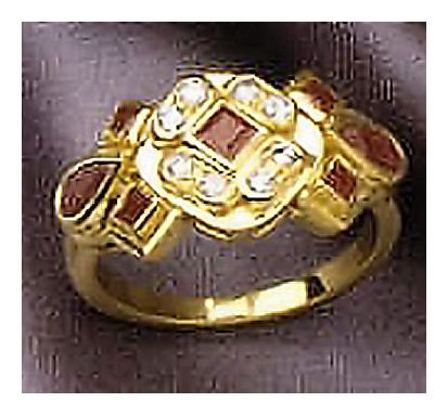14k Ruby Diamond Ring (.18ct)