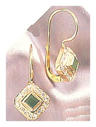14k Goddess Emerald & Diamond Earrings (.64ct)