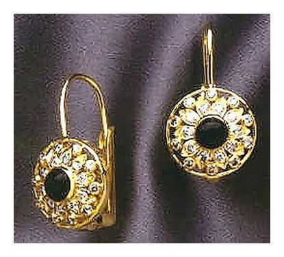 14k Onyx & Diamond Earrings (.55ct)