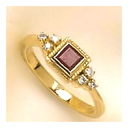 14k Ruby Diamond Ring (.09ct)