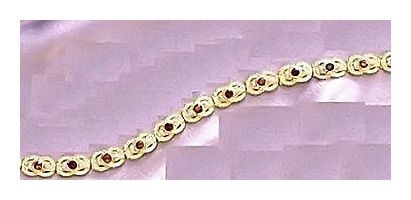 14k Queen Hera Garnet & Diamond Bracelet