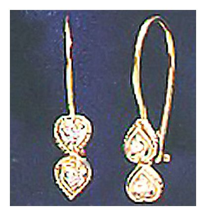 14k Diamond L'amour Earrings (.08ct)