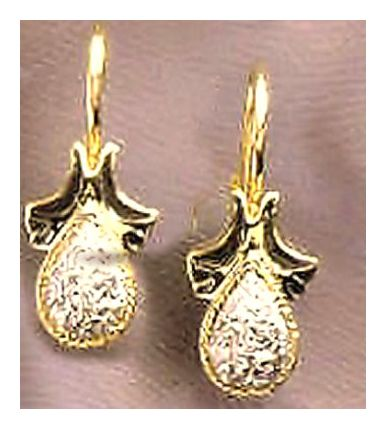 14k Winged Diamond Earrings (.25ct)