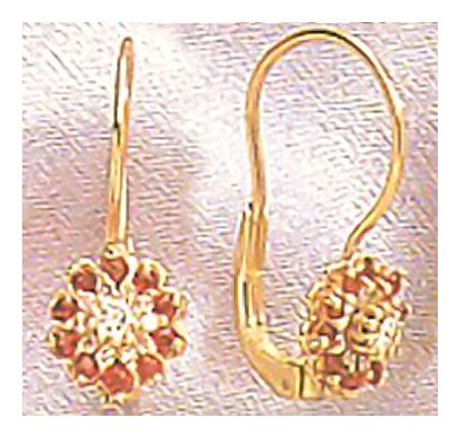 Snow White Ruby Diamond Earrings (.25ct)