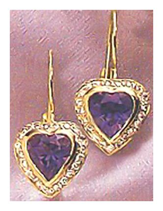 14k Carmen Iolite & Diamond Earrings (.55ct)