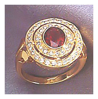 14K Apollo Garnet and Diamond Ring (.50ct)