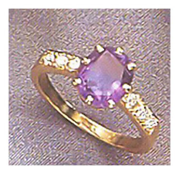 14k Richelieu Amethyst and Diamond Ring