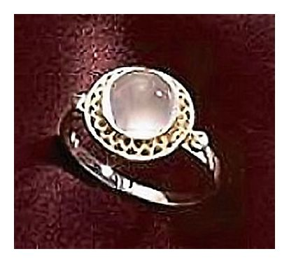 14k Clair de la Lune Moonstone Ring