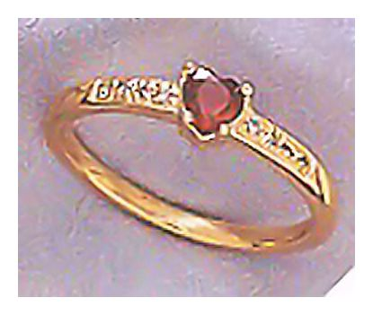14k Romeo Garnet & Diamond Ring