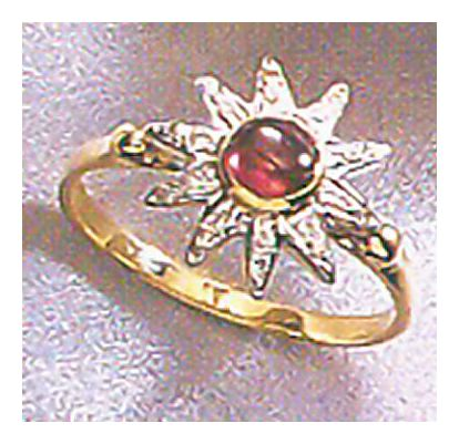 14k Andean Sun Garnet & Diamond Ring