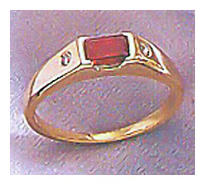 14k La Vie en Rose Garnet & Diamond Ring