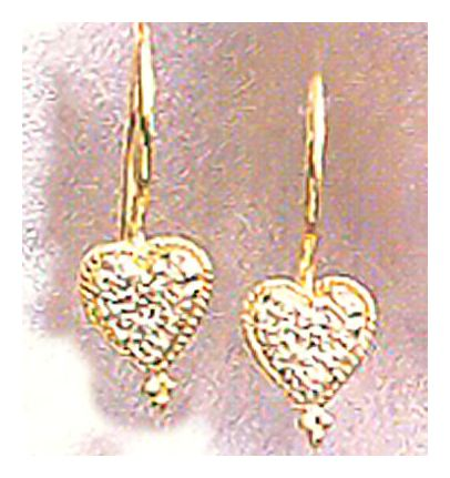 14k Diamond Valentina Earrings (.06ct)