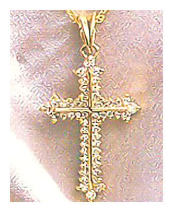 14k Galilee Diamond Cross Pendant