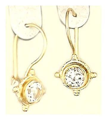 14k Terpsichore White Sapphire Earrings