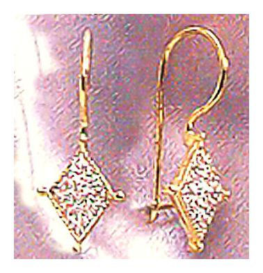 14k Diamanda Earrings (.09ct)