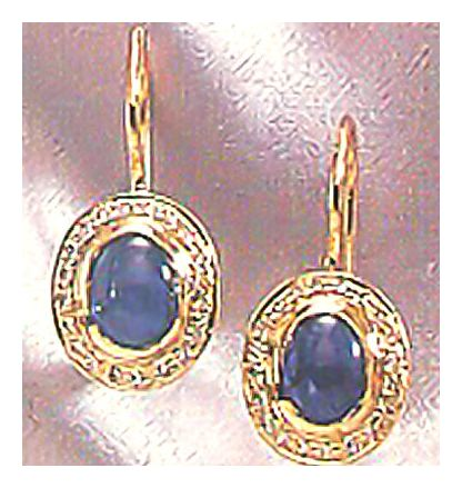 14k Isabella Of Castille Sapphire & Diamond Earrings (.20ct)
