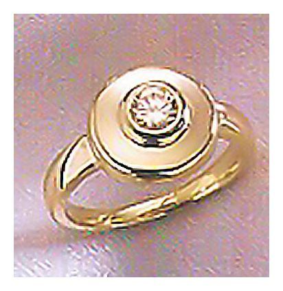 The Eye 14k Gold and Diamond Ring