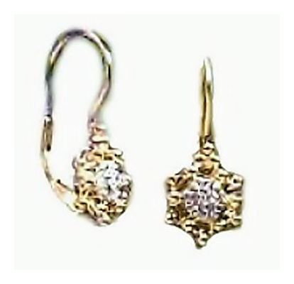 14k Celestial Diamond Earrings (.07ct)