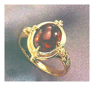 14k Moulin Rouge Garnet and Diamond Ring