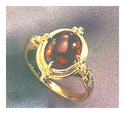14k Moulin Rouge Garnet & Diamond Ring