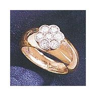 14k Rose Florette Diamond Ring (.42ct)