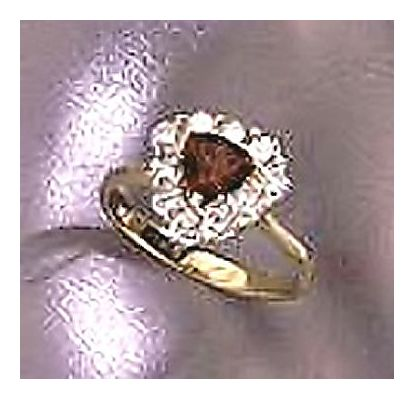 14k Amore Garnet & Diamond Ring