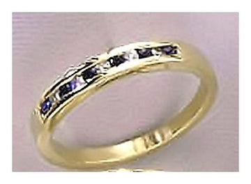 14k Millay Sapphire and Diamond Ring (.08ct)