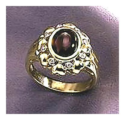 14k La Belle Rose Garnet & Diamond Ring (.07ct)