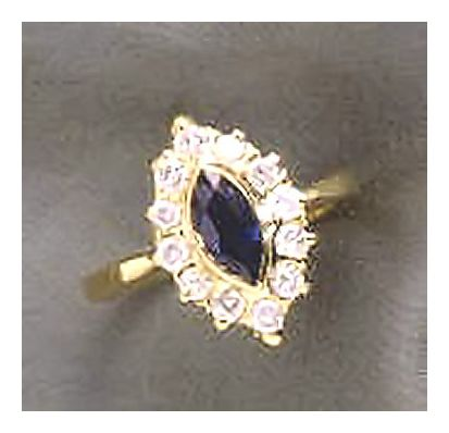 14k Blue Danube Sapphire and Diamond Ring