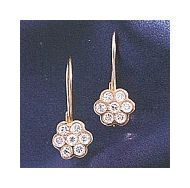 14k Rose Florette Diamond Earrings (.84ct)