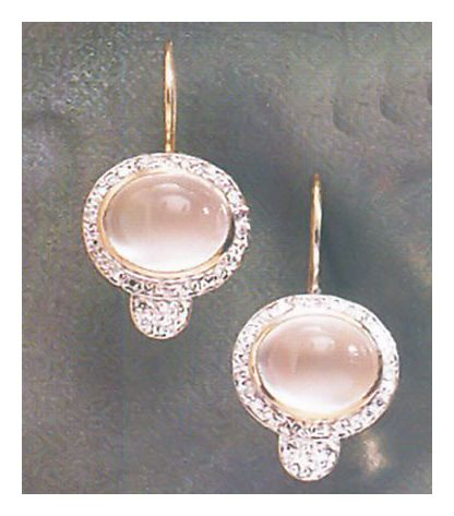 14k Queen Maeve Moonstone Earrings (.35ct)