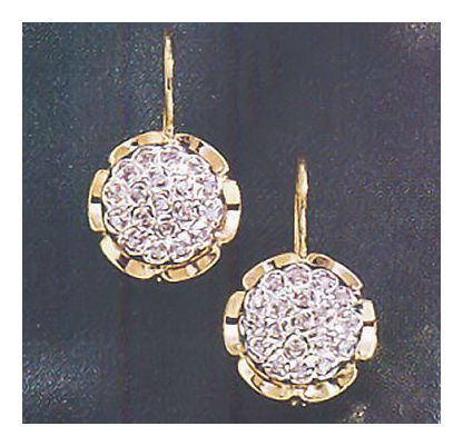 14k Chrysanthemum Diamond Earrings (.25ct)