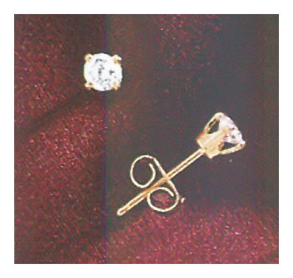 Alouette 14k Gold and Diamond Studs