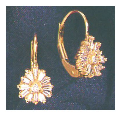 14k Evening Magic Diamond Earrings
