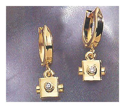 Viva Las Vegas 14k Gold and Diamond Earrings