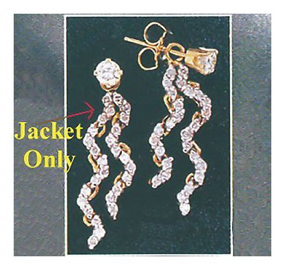 14k Diamond La Pluie Des Earrings-Jacket (.50ct)