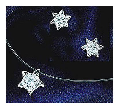 Starburst 14k White Gold and Diamond Set