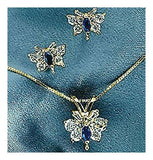 Diamond and Sapphire Butterfly Necklace