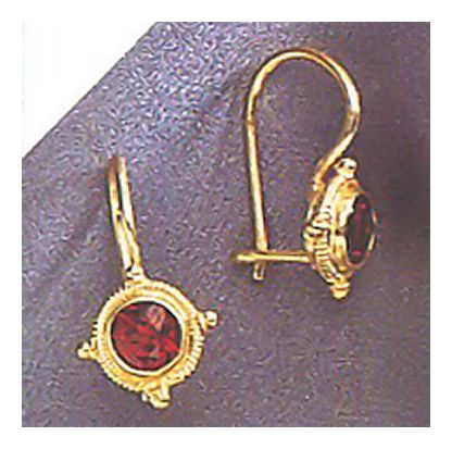 14k Chichester Garnet Earrings