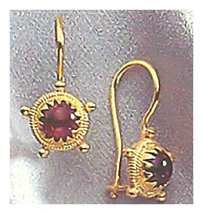 14k Garnet Mariner's Earrings