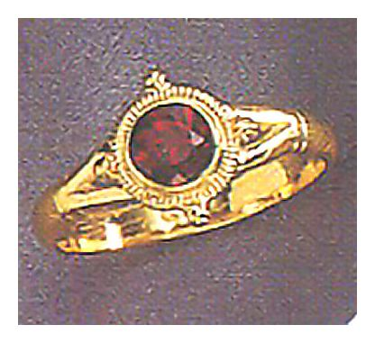 14k Chichester Garnet Ring