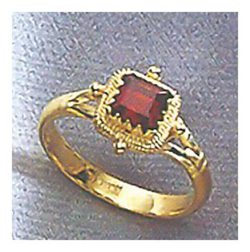14k Garnet Holiday Ring