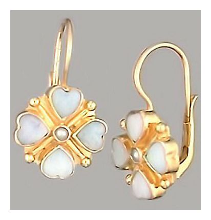 14k Cecily Opal and Pearl Earrings