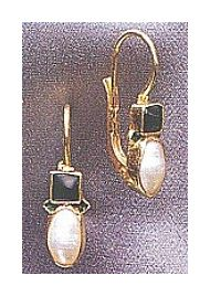 14k Tuileries Garnet & Pearl Earrings