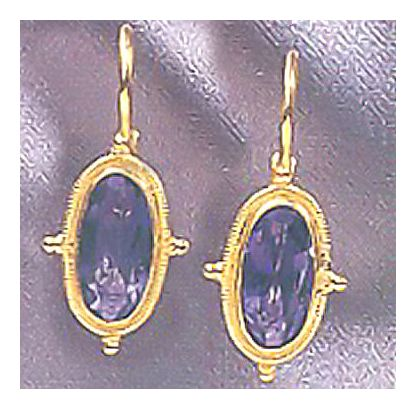 14k Whitehall Iolite Earrings