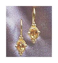 14k Camelot Zircon Earrings