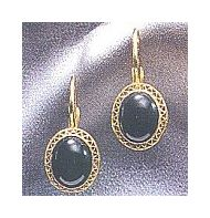 14k Oxford Onyx Earrings